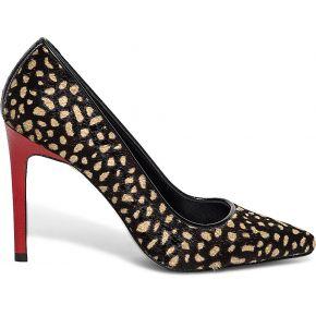 Escarpin noyce léopard cuir effet poulain...