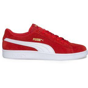 Tennis puma en cuir velours rouge rouge puma