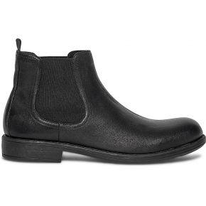 Chelsea boots noir en cuir noir eram