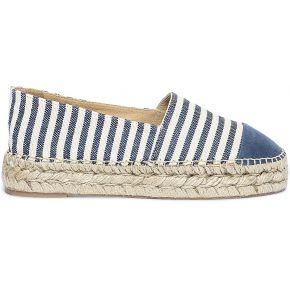 Espadrille à plateforme polka shoes bleue et...