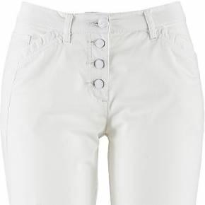 Pantalon extensible, longueur cheville blanc...