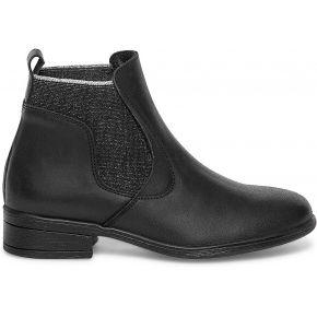Chelsea boots cuir noir à détails paillettes...