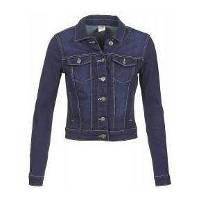 Vestes en jean femmes vero moda new soya bleu