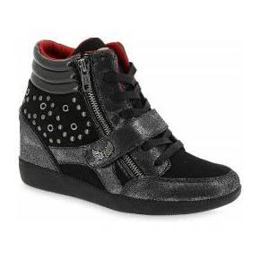 Baskets compensées space noir kaporal shoes