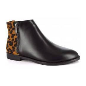 Bottine june noir léopard
