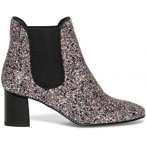 Chelsea boots glitter à talon