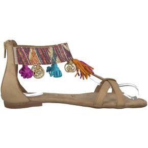 Sandales cuir kim - feminin - beige - tamaris
