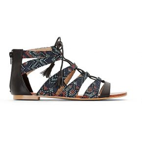 Sandales plates - feminin - bleu - castaluna