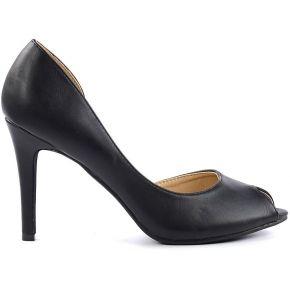 Soldes ! escarpins peep toe - noir - sacha