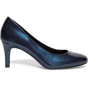 Escarpin verni bleu