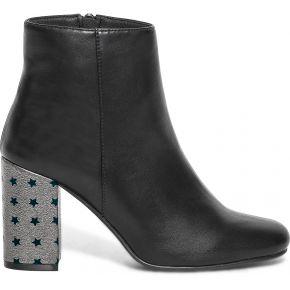 Boots noir à talon étoilé