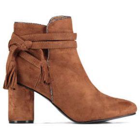 Boots vanessa wu camel femme