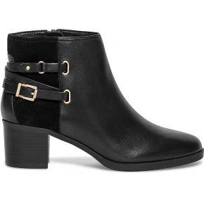 Boots boucles cuir noir