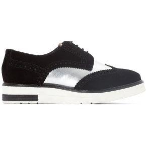 Derbies cuir compensées - feminin - noir -...