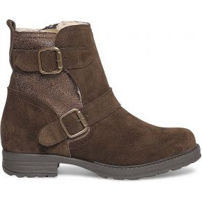 Boots marron à boucles