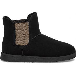 Boots fourré noir élastique cuivré