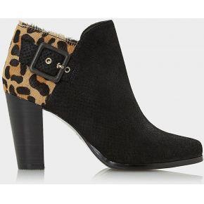 Oaklee - side buckle block heel ankle boot -...