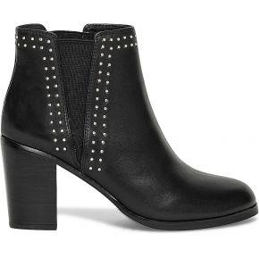 Chelsea boots clous cuir noir