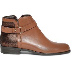 Boots cuir camel à effet pailleté camel eram