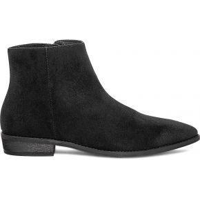Boots plat noir suédé noir eram