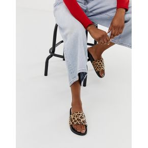 Femme truffle collection - mules motif léopard...