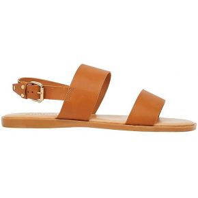 Bianco twin strap sandals women brown