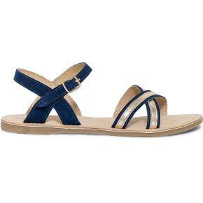 Sandale bleu marine en cuir velours à détails...