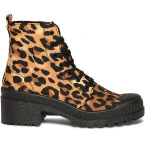 Boots imprimé léopard texto imprime texto