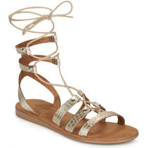 Sandales et nu-pieds doré andré