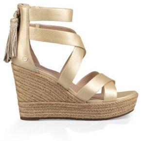 Ugg raquel metallic sandal pour femmes en gold,...