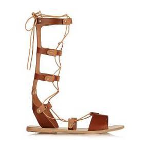 Sandales à lacets en cuir thebes