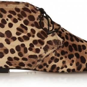 Bottines en façon poulain à imprimé léopard...
