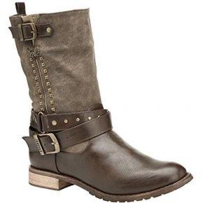 Kaporal risko, bottes classiques femme, marron...