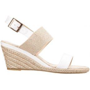 Anna field sandales compensées whitegold