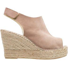 Pavement snerle sandales compensées taupe