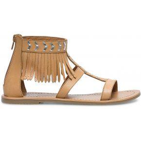 Sandales cuir franges