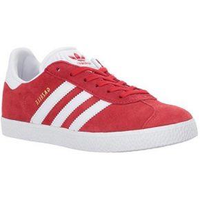 Adidas youth gazelle scarlet footwear white...