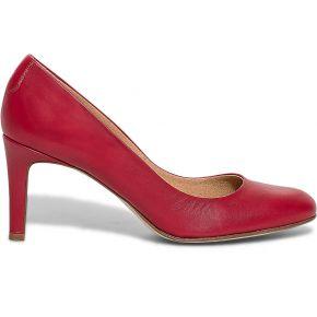 Escarpin cuir rouge