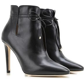 Bottines à talon hautes jimmy choo en cuir noir...
