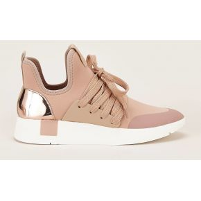 Sneakers montantes shady rose poudre - steve...
