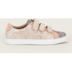 Sneakers rose irisé à scratch - vanessa wu