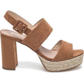 Sandale marron à plateau-camel-36, 37, 38, 39,...