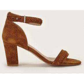 Sandales en cuir la talentueuse camel -...