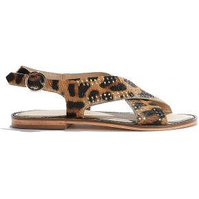 Sandales cuir feminin marron petite...