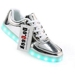 Dogeek chaussure baskets lumineuse homme femme...