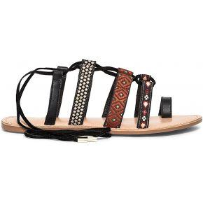 Sandale noire à brides décorées-noir-36, 37,...
