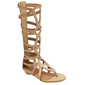 Qitun femme eté rome sandals tige haute zip...