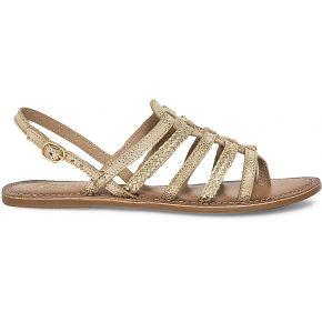 Sandale spartiate cuir doré-or-36, 37, 38, 39,...
