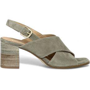 Sandale kaki en cuir velours kaki eram