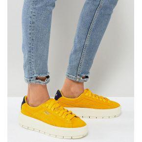 Femme puma - trace - baskets compensées - jaune...
